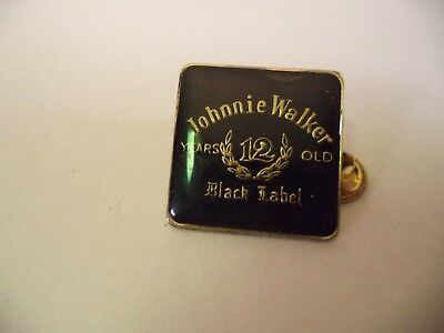 P41 Johnnie Walker Black Label Scotch Whisky 12 Years Aged Hat Jacket Lapel Pin