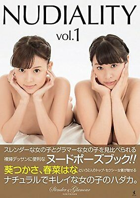 NUDIALITY vol.1 - slender & glamour nude pose book F/S w/Tracking# Japan New