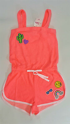 NWT Justice Kids Girls Size 6/7 16/18 20 Emoji Terry Cloth Romper Swim Cover Up