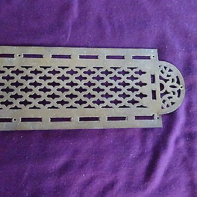 Vintage Brass Push Door Plate Art Deco French Hardware Touch Mission Retro.