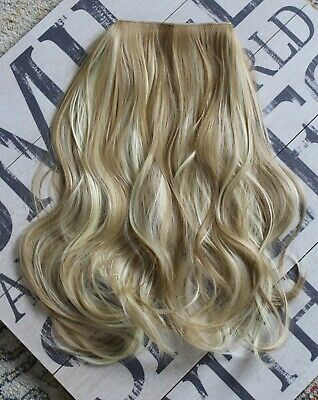 "Hair Extensions Wavy Halo Headband Invisible Wire Hidden Secret 20"" 140g"