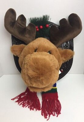 DanDee Mounted Reindeer Trophy Christmas Wall Decor NO REMOTE