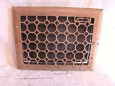 Antique Late 1800's Cast Iron Heating Grate Honeycomb Design 13.75 X 10.75 Fj