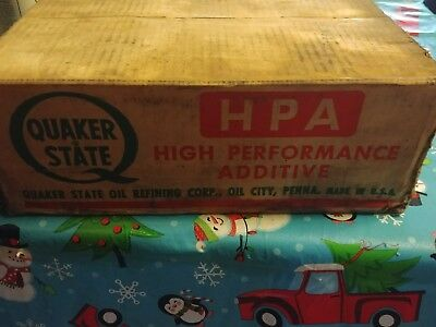 Vintage case of Quaker State HPA Oil Cans. NOS ! Sealed!