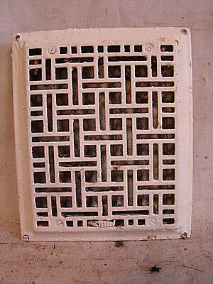 "ANTIQUE LATE 1800'S CAST IRON HEATING GRATE ORNATE DESIGN 11.75 x 9.75"" f"
