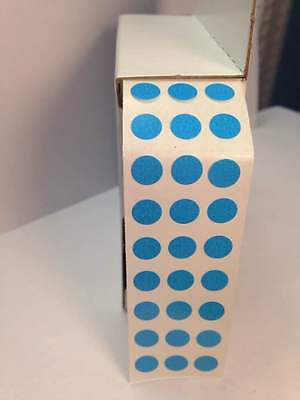 """BLUE SELF ADHESIVE 3/4"""" (17mm) Round Coding Inventory Labels Dot Stickers"""