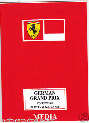 Original Ferrari Media Follder # German Grand Prix Hockenheim 1999 # Schumacher