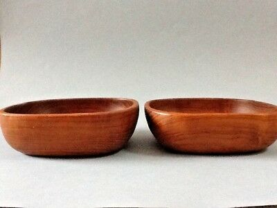 A Nice Pair of Square Wood Bowls