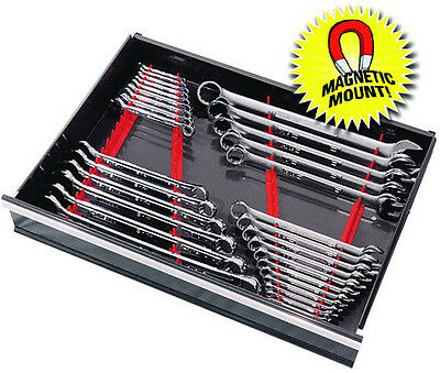 ERNST 6014M RED 40 Tool  Wrench Organizer Rail  Kit w/ Magnet Mount