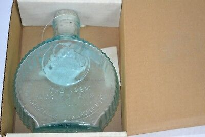 Vtg 1982 Worlds Fair Great Smoky Mountains Mouth Blown Heavy Glass Bottle Bank