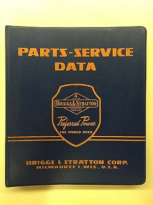 1960 Briggs & Stratton Parts-Service Data Catalog & Repair Instructions