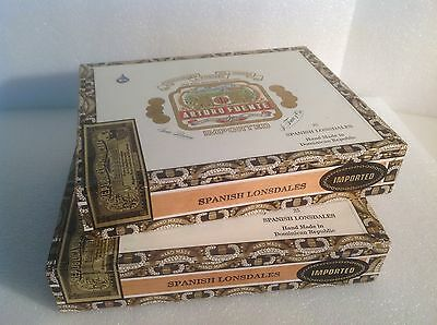 2 - ARTURO FUENTE - SPANISH LONDALES - WOOD CIGAR BOXES  guitars- jewelry boxes