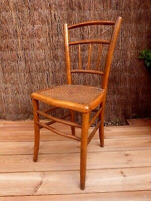 Chaise Style Bar Cafe Bistrot Thonet Bois Courbe Assise Cannage