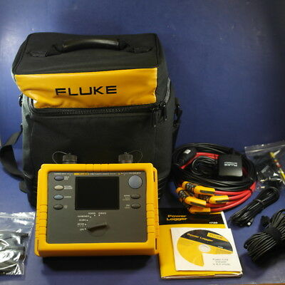 Fluke 1735 Power Logger Analyst, Mint Condition! Accessories and Case