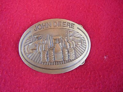 Old John Deere Farming Tractor Belt Buckle