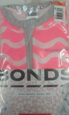 Baby Girls size 00 Pink Bonds Zip Wondersuit