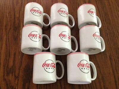 Coca Cola Cafe Coffee Mugs By Gibson - Set Of 8 -