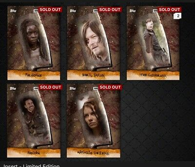 Topps The Walking Dead Digital Entire Chop Set And Awards Including Dupes