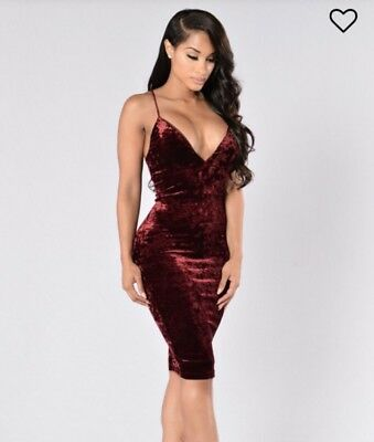 aef3bfb6f19 Fashion Nova Red Velvet Party Dress Size S Never Worn Before BrandNew with  tags