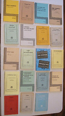 Samuel French And Dramatists Acting Edition Play Scripts ONE LOT OF 19