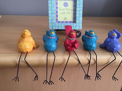 """Russ Berrie  Bird Collection 5 Individual Birds """"This is the Life"""""""