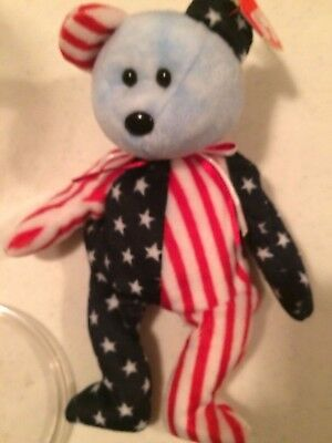 "TY Beanie Baby @""1999 Spangle Blue Face"" and Pink face Rare Tag Errors Retired"
