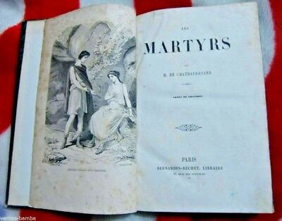 LES MARTYRS - M. DE CHATEAUBRIAND - ULTRA RARE FRENCH ANTIQUE BOOK ca. 1826