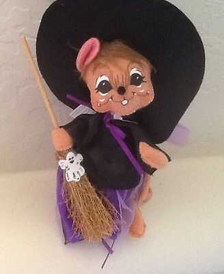 """ANNALEE ~ 2010 ~ Halloween ~ """"Purple Witch Mouse""""  ~ NWT ~ Free Shipping"""