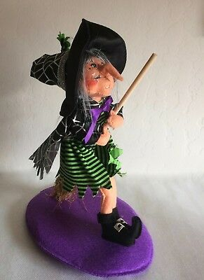"""ANNALEE ~ 2012 ~ Halloween ~ 7 """" ~ """"Flying Witch"""" ~ # 301612 ~  NWT"""