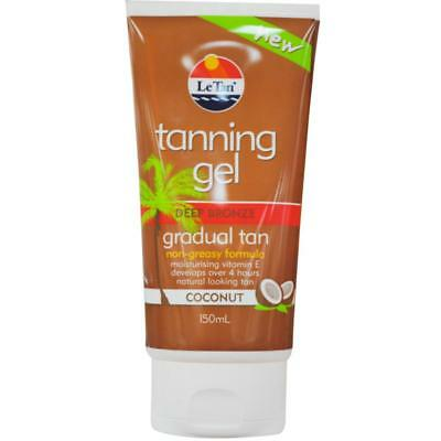 LE TAN GRADUAL TANNING GEL (DEEP BRONZE) 150ml TUBE x1
