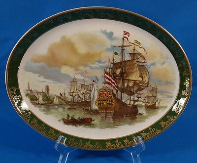 Vintage Durability Weatherby Hanley Royal Falcon Ware Oval Decor Plate