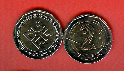 BULGARIA 2 Lv Bulgarian Presidency for the Council of Europe 2018 - UNC 500000pc