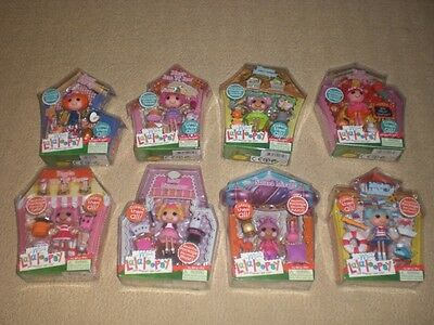 Mini Lalaloopsy Series 2 Complete Set of 8, Sunny Side Up, Marina Anchors,Berry