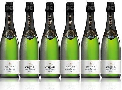 Cruse French Blanc De Blancs Sparkling Wine (6x750ml) RRP$149