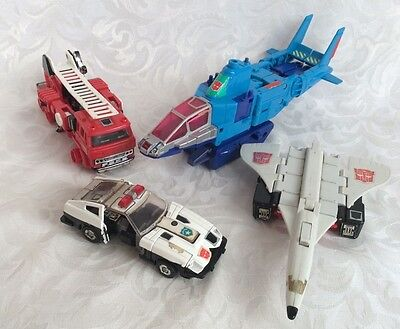 G1/G2 Hasbro Transformers (Incomplete / for parts) 1980's Bulk Lot of 4