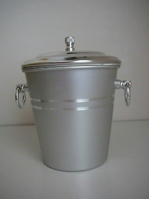 Aluminium Ice bucket with Lid Silver Bar Drinks Man Cave Parties