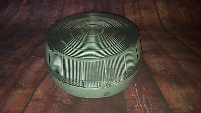 Vintage Industrial Retro Coughtrie Round Large Exterior Light A140 Bulkhead