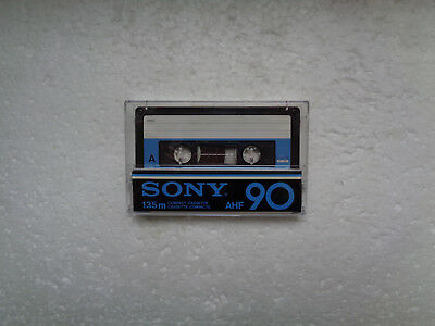 Vintage Audio Cassette SONY AHF 90 From 1978 - Fantastic Condition !!