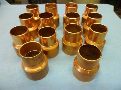 """Lot Of 14- 1 1/2"""" X 2"""" Copper C X C Reducer Ept Wrot"""