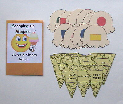 Teacher Made Center Activity Learning Resource Game Colors & Shapes