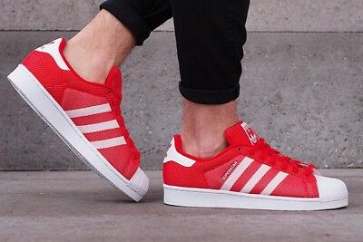 ADIDAS Originals Superstar weave mens trainers red white BB4976 textile