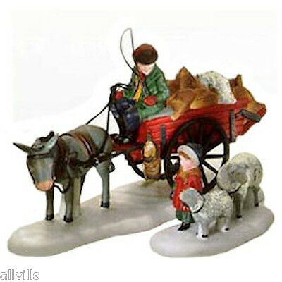 BRINGING FLEECES TO THE MILL #58190 DEPT 56 DICKENS VILLAGE ACCESSORY SET of 2