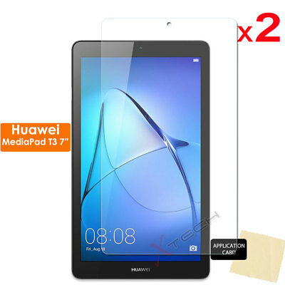 """2 Pack of CLEAR Screen Protector Covers for Huawei MediaPad T3 7"""" Tablet"""
