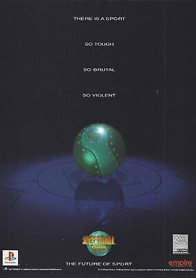 Magazine Advertisement - Speedball 2100 Game - PlayStation - The Future of Sport