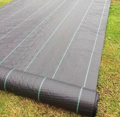 Yuzet 09-001006-00-10 2m x 10m 100g Weed Control Ground Cover Membrane Fabric