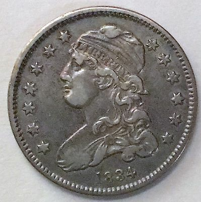 1834 Capped Bust Quarter B-4 With Clash Marks High Grade
