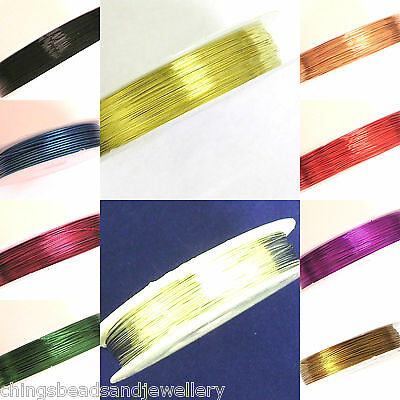 Copper Wires Tiara Wrapping Beading Craft Wires Sizes & Colours