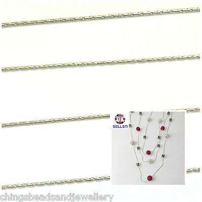 Sterling Silver Snake Beading Chain Dia 0.65mm Jewellery Making MULTI LISTING