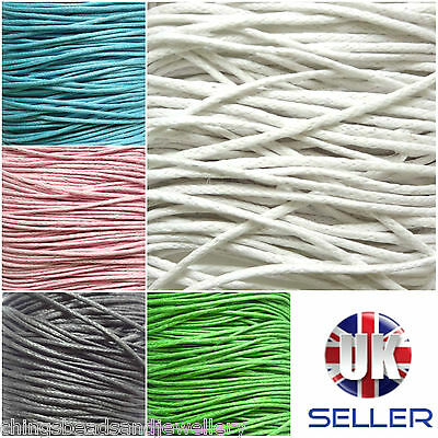30M Waxed Cotton Cord 1.0mm Jewellery Making String Thread