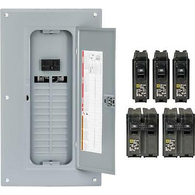 Square D 24-Space 100-Amp Main Breaker Electrical Service Load Center Box Indoor